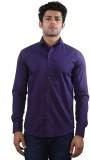 Just Differ Men's Solid Formal Purple Sh...