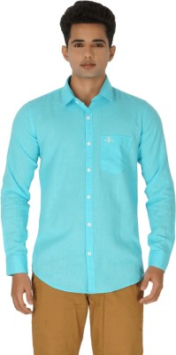 Rug Bee Men's Solid Casual Light Blue Shirt