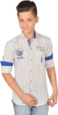 Anry Boy,s Checkered Casual Brown Shirt