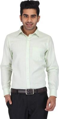Prague Fashion Men's Solid Formal Light Green Shirt