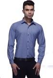 Jads Men's Checkered Formal Blue Shirt