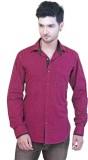 Goplay Men's Striped Casual Purple Shirt