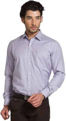 Klub Fox Men's Solid Formal Purple Shirt