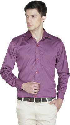 Asher Men's Striped Formal Red, Blue Shirt