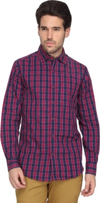 Denimlab Men's Checkered Casual Red Shirt