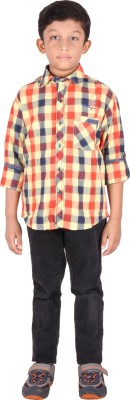 Human Steps Boy's Checkered Casual Multicolor Shirt