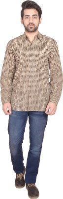 Shilpi Men's Printed Casual Brown Shirt