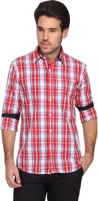Denimlab Men's Checkered Casual Red, Blue Shirt
