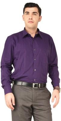 Hyphen Men's Checkered Formal Purple Shirt