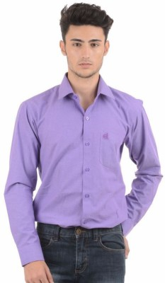 Winsome Deal Men's Solid Formal Purple Shirt