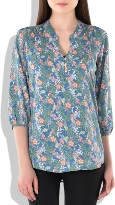London Off Women's Floral Print Casual Green Shirt
