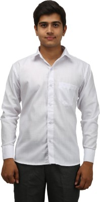 aaral Men's Solid Casual White Shirt