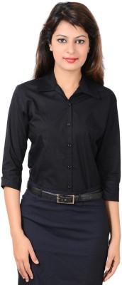 LGC Women's Solid Formal Black Shirt