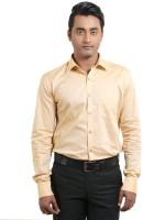 Banika Formal Shirts (Men's) - Banika Men's Solid Formal Gold Shirt