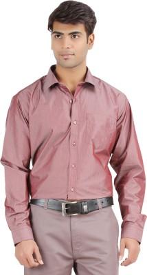 United Nation Men's Solid Formal Brown Shirt