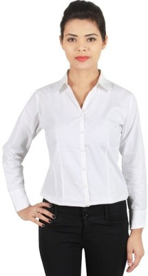 ZX3 Womens Solid Formal White Shirt
