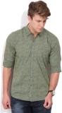 Lee Men's Printed Casual Dark Green Shir...