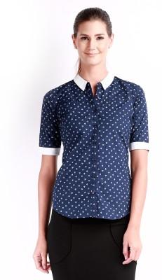 Change 360 Women's Printed Casual Blue Shirt