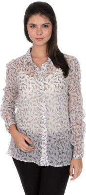 Urban Religion Women's Printed Casual White Shirt