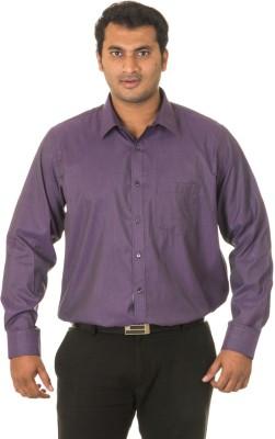 West Vogue Men's Solid Formal Purple Shirt