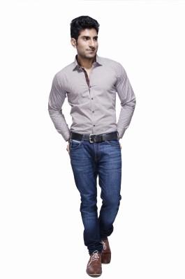 Jads Men's Printed Casual Brown, Blue Shirt