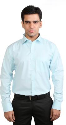 Basil Men's Solid Formal Light Blue Shirt