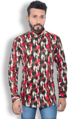 One Sphere Men's Printed Casual Red Shirt