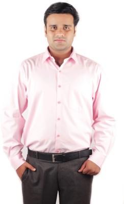 RIPARV Men's Solid Formal Pink Shirt