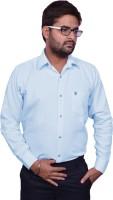 Mc john Formal Shirts (Men's) - Mc-John Men's Solid Formal Light Blue Shirt