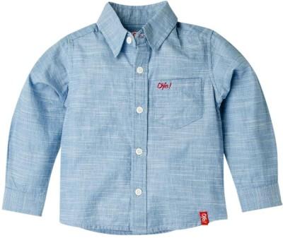 Oye Boy's Solid Casual Blue Shirt