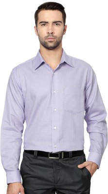 Allen Solly Men,s Solid Formal Purple Shirt