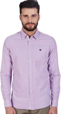 American Swan Men's Solid Casual Purple Shirt