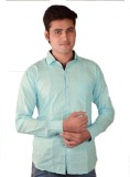 Fuego Men's Solid Casual Light Blue Shir...