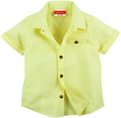 Fisher-Price Boy's Solid Casual Yellow Shirt