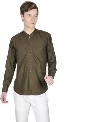 Poker Dreamz Men's Solid Formal Green Shirt