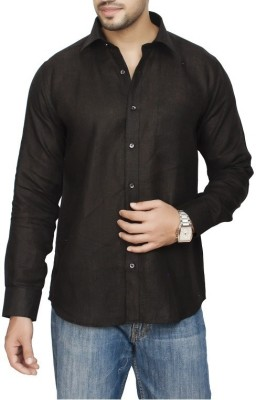 FIRSTRACE Men's Solid Casual Black Shirt