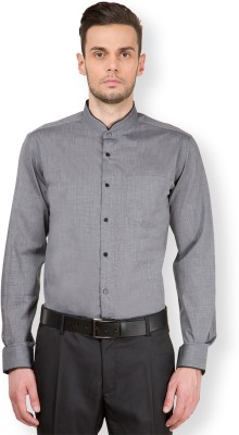 Black Coffee Men's Solid Casual Grey Shirt