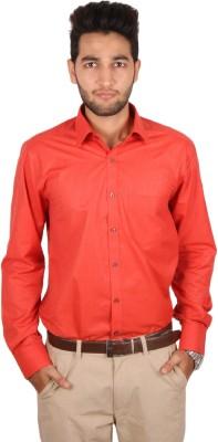 Styllus Men's Solid Formal Red Shirt