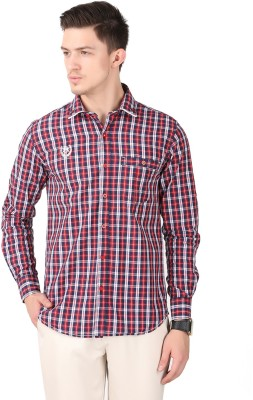 Cotton County Men's Checkered Casual Red Shirt