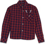 London Fog Boys Checkered Casual Red, Bl...