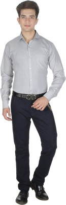 Shaurya-F Men's Solid Formal Grey Shirt