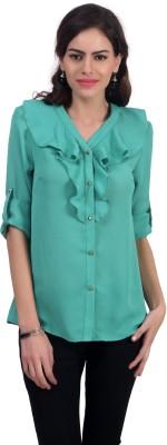 Charisma Women's Solid Casual Green Shirt