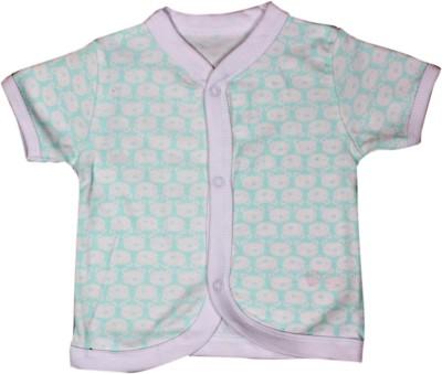 Mini Berry Baby Girl's Printed Casual Green Shirt