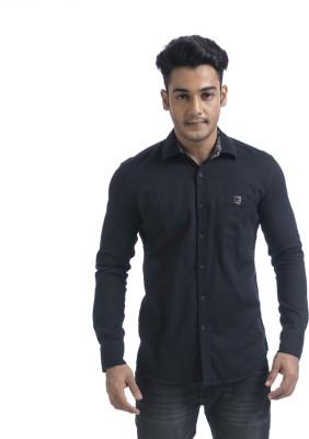 Swathe Men's Solid Casual Black Shirt