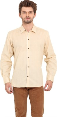 Ekmatra Men's Solid Casual Beige Shirt