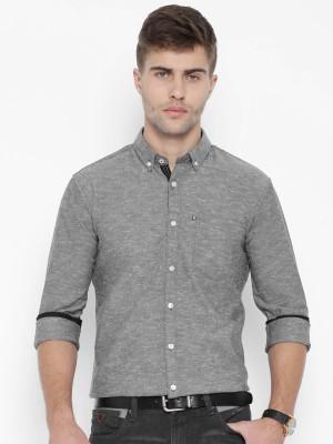 Harvard Men,s Solid Casual Grey Shirt