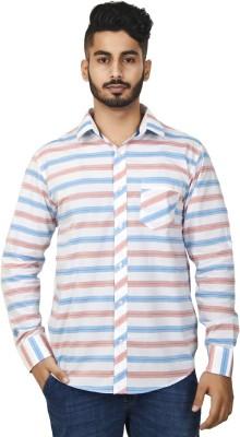 Defossile Men's Striped Casual Multicolor Shirt