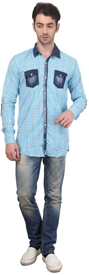 Custom Paid Men's Checkered Casual Multicolor Shirt