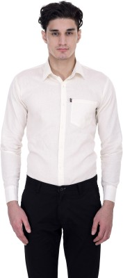 LONDON LOOKS Men,s, Boy's Solid Formal White Shirt