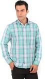 J Hampstead Men's Checkered Casual Green...